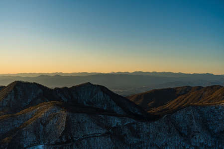 The first sunrise from the top of Mt. Haruna