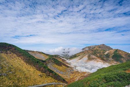Beautiful scenery of Mt. Murodo in autumn