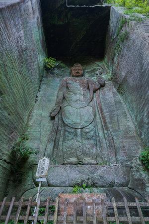 Hyakushaku Kannon in Mt. Nokogiri, Chiba