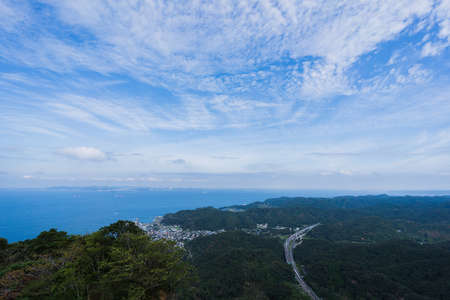 View from the summit of Mt. Nokogiri in Chiba