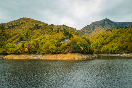 Lake Okudadaki dyed in autumn colors