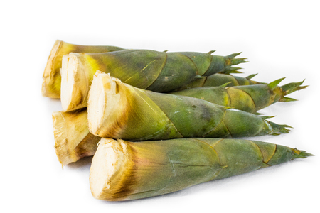Shoot bamboo shoots on a white background.