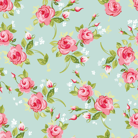 Vector illustration seamless floral pattern with roses