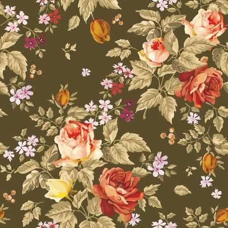 Seamless background with  flowers. Floral  illustration.