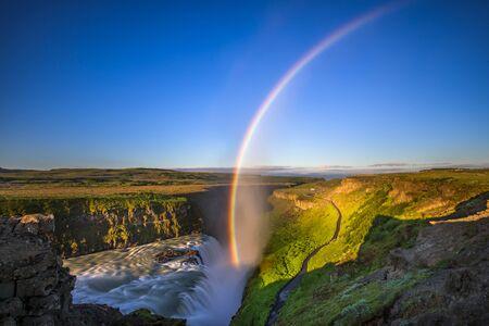 waterfall river: Gullfoss