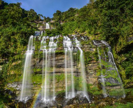 Beautiful waterfall in Lao.