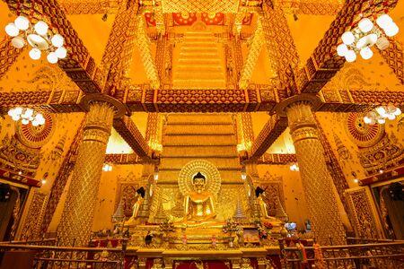 thai art: Golden buddha in Thailand.