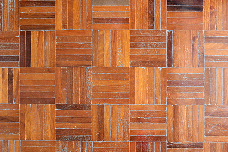 Beautiful pattern of brown parquetry.
