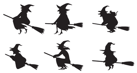 silhouettes: Witches silhouettes