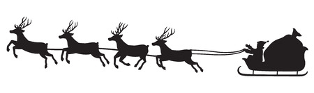 santa's sleigh 일러스트