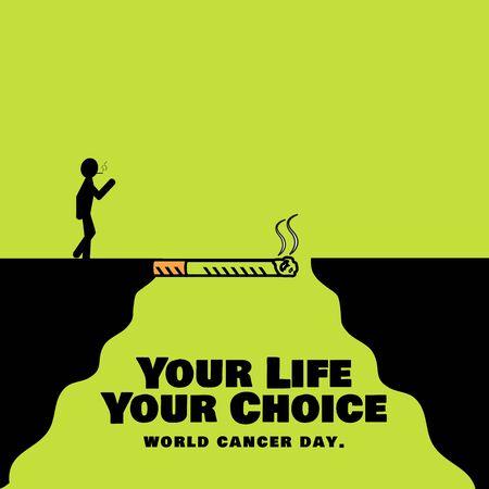 lung cancer: Lung Cancer Awareness man smoking