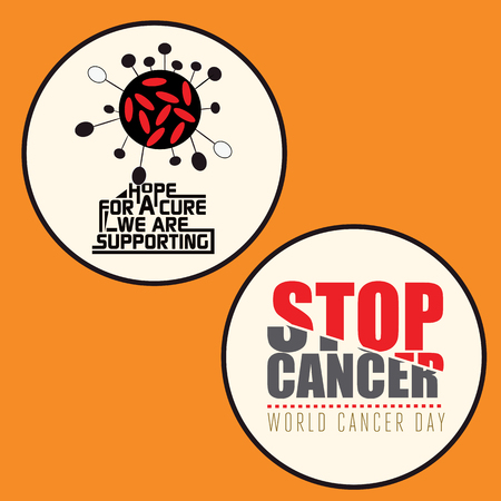 cancer research: Set of 2 Cancer Awareness badge