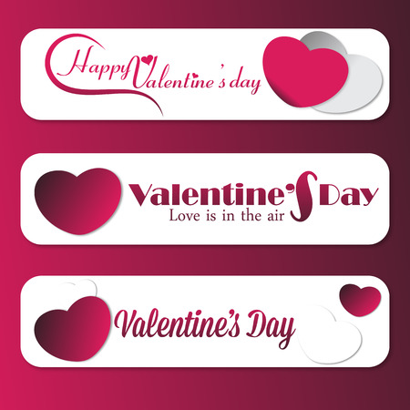 Set of 3 Valentine Message banner ads