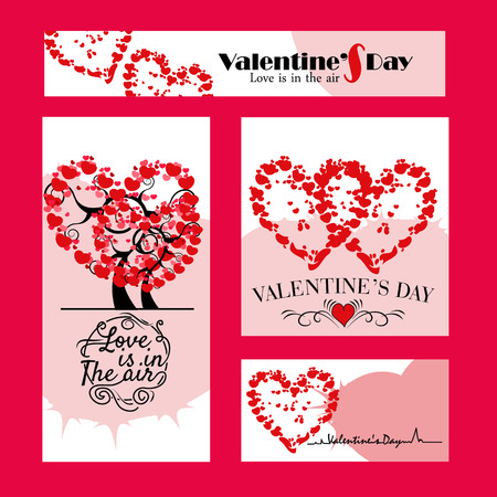 Set of 4 Valentine Day Poster
