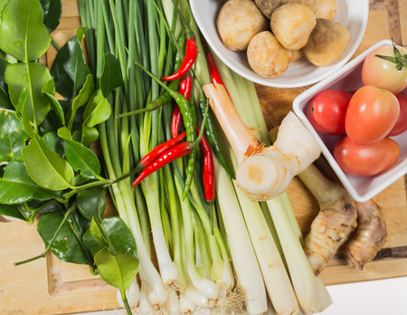 isoleted: isoleted vegetable thaifood Stock Photo