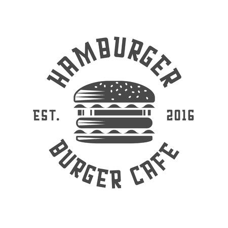 Emblème autocollant logo Burger Banque d'images - 70985698