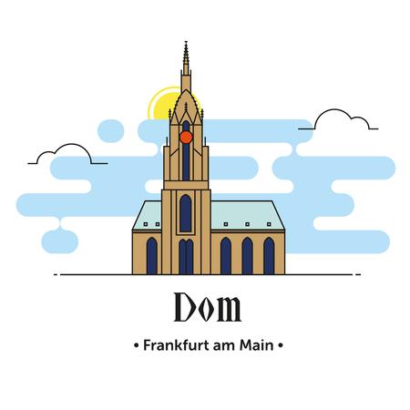 Dom Frankfurt am Main illustration in Germany