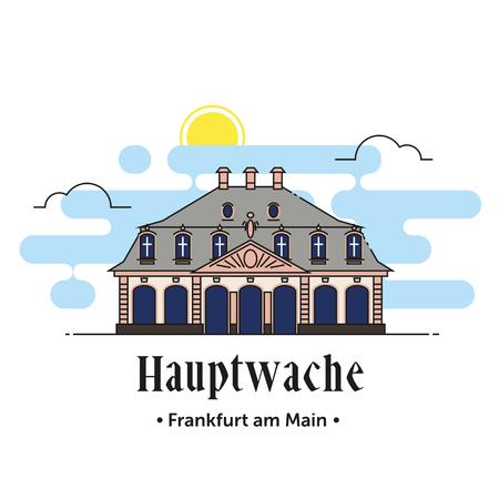 Hauptwache Frankfurt am Main illustration in Germany