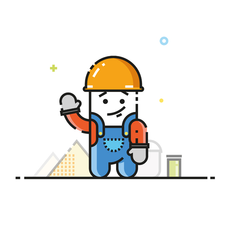 Builder flat icon
