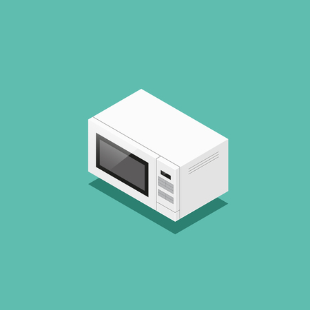 Vector isometric illustration of microwave oven