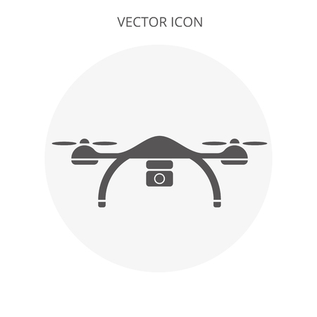 Drone vector flat design