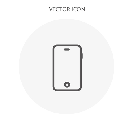 Cell phone Icon vector flat design Иллюстрация