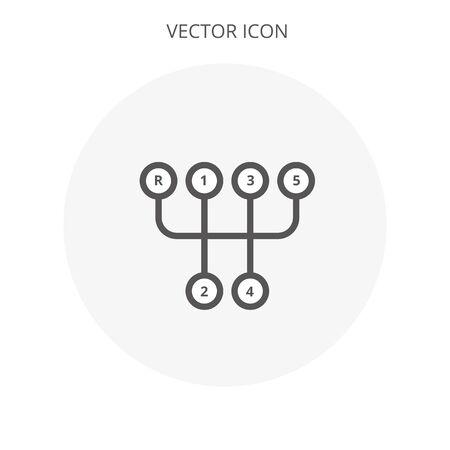 Manuel icône de transmission isolé illustration signe symbole eps10 vecteur Banque d'images - 78355520