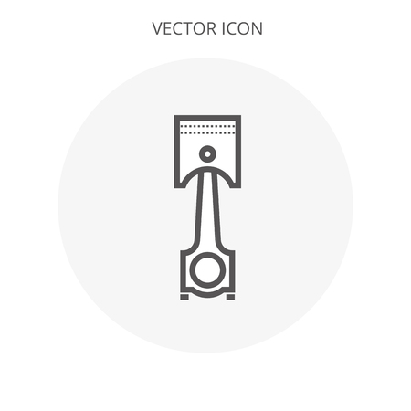 Piston icon illustration isolated vector sign symbol EPS10
