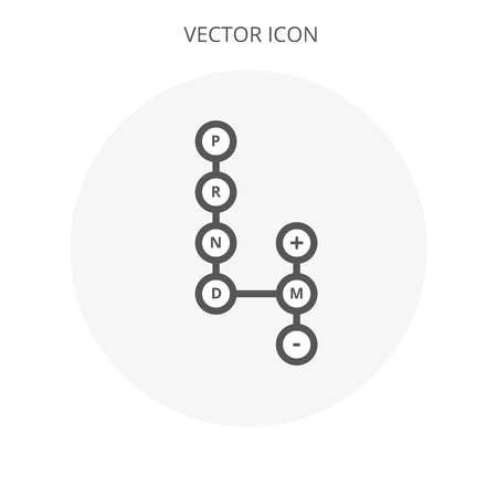 Automatic transmission icon illustration isolated vector sign symbol