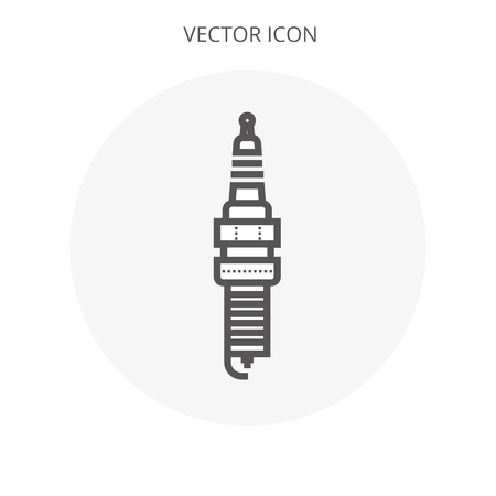 Spark plug icon illustration isolated vector sign symbol