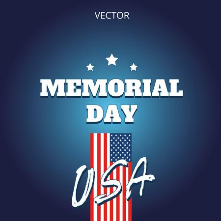 Memorial day vector illustration logo banner label