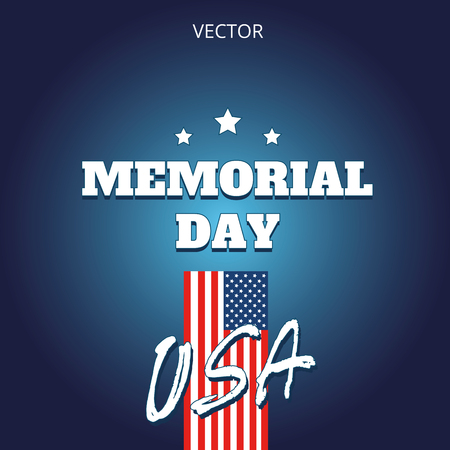 Memorial day vector illustration logo banner label USA EPS10