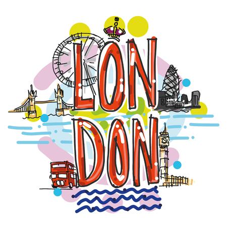 London city hand drawn illustration illustration