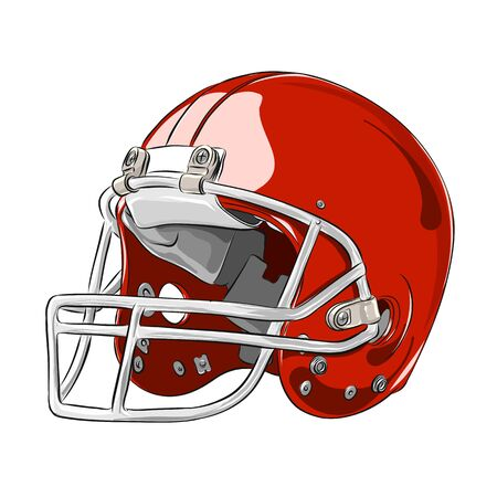 Casque de football américain couleur rouge illustration vectorielle eps 10 Banque d'images - 94218653