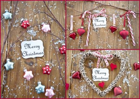 Various vintage christmas ornaments Stock Photo
