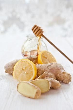 Gember, citroen en honing