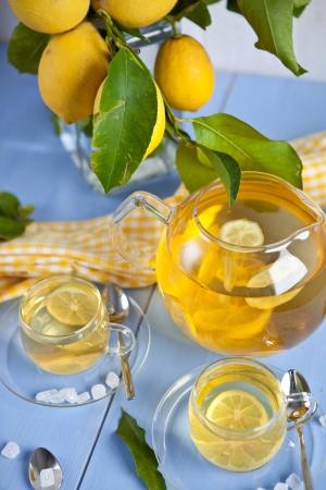 Hot tea with lemons Stock Photo - 17640559