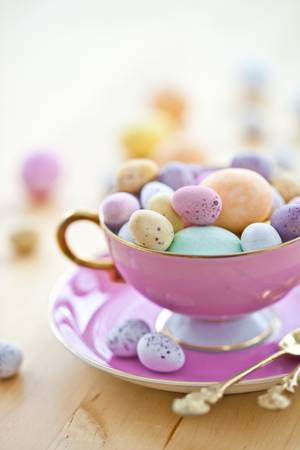 Colorful eggs for a happy easter photo