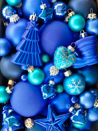 Background made from a variety of christmas baubles Stock Photo