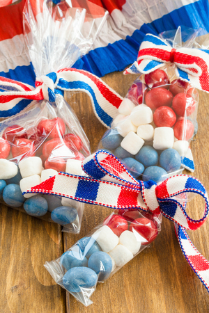 Colorful treats for the American Independence day at the 4th of July photo