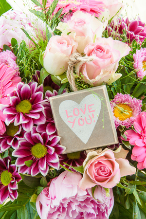 mothersday: Colorful summer flowers in pink tones in a bouquet