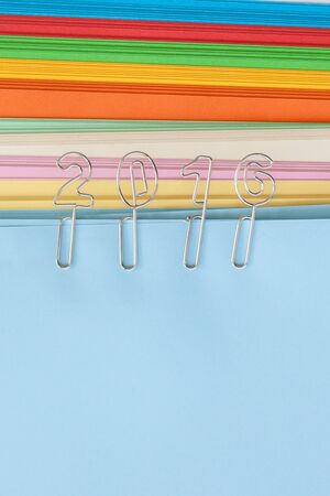 paper clips: 2016 paper clips on colorful copy paper