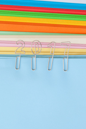 paper clips: 2017 paper clips on colorful copy paper