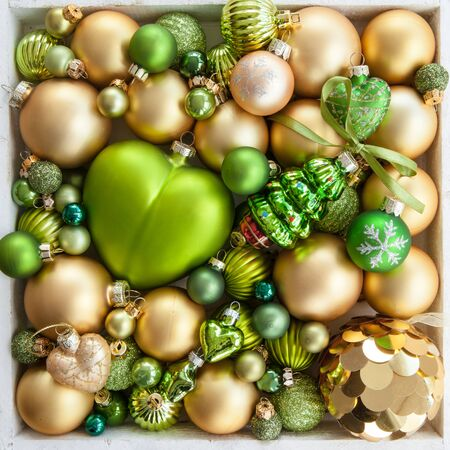 Colorful christmas baubles for a christmas background
