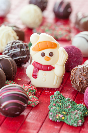 kugel: Colorful chocolates and chocolate truffles for christmas