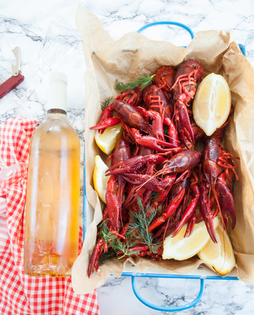 creole: Boiled crawfish with dill and fresh lemon