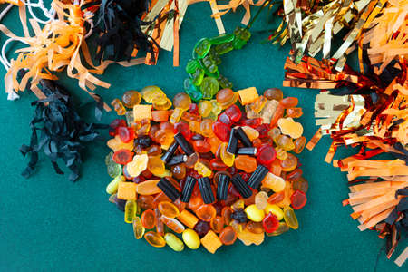Colorful candies and sweets for a Happy Hallowen / Trick or Treat