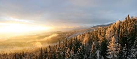 Landscapes and snow in slovakia