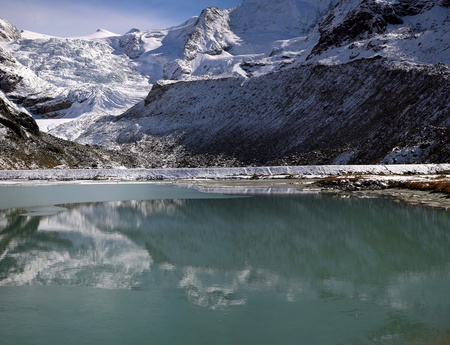 Lake of Moiry in the canton du Valais in Switzerland photo