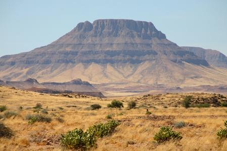 Landscape in Namibia - Brandberg Mountains Stock Photo